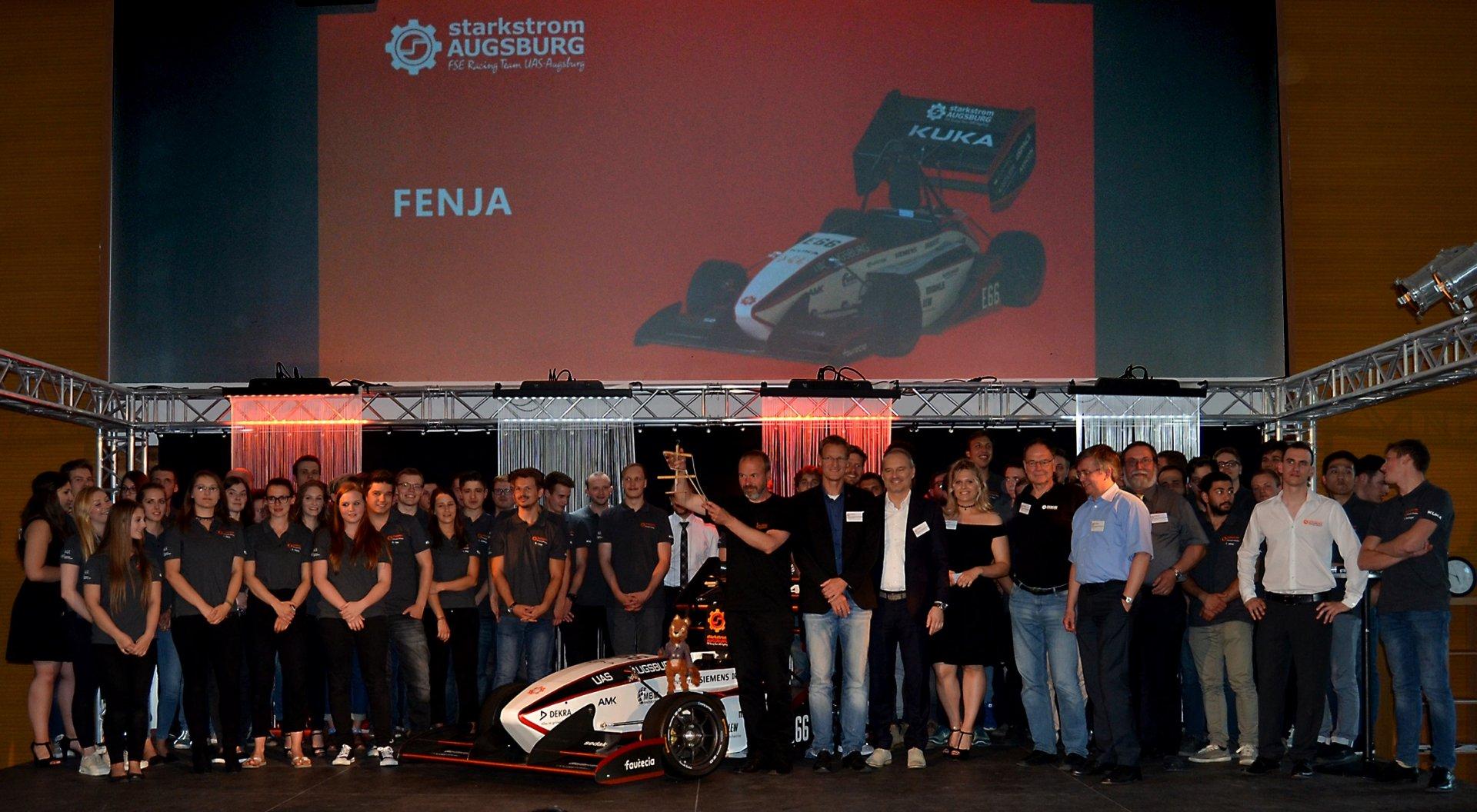 Verbesserte Technologie: Starkstrom Team präsentiert neuen Rennwagen