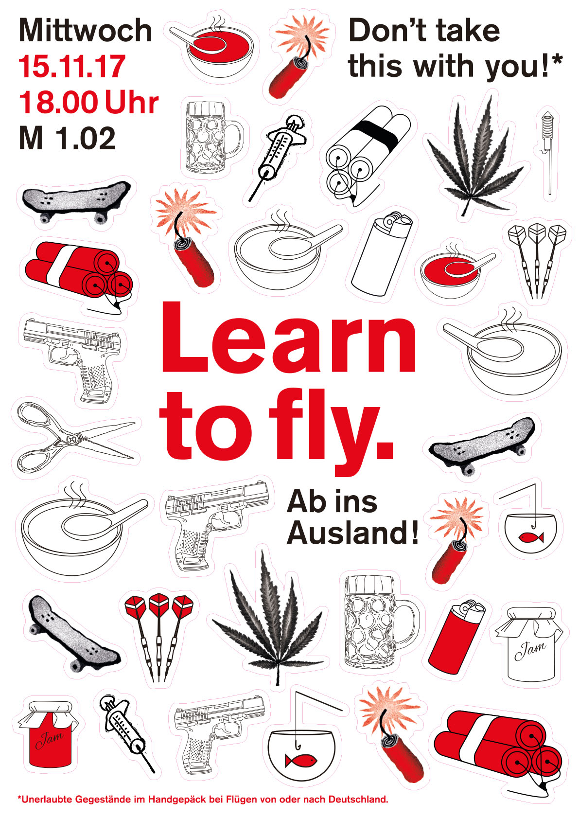 learn to fly plakat