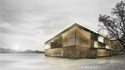 Aussenrendering Floating Mountain - Winter (Abb.: Andreas Mack)