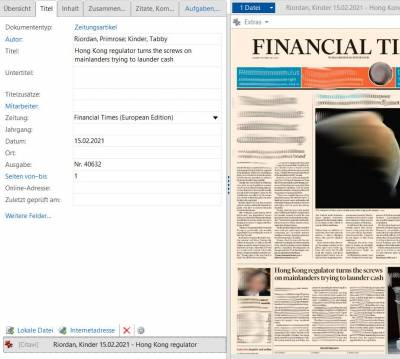 FT ePaper in Citavi
