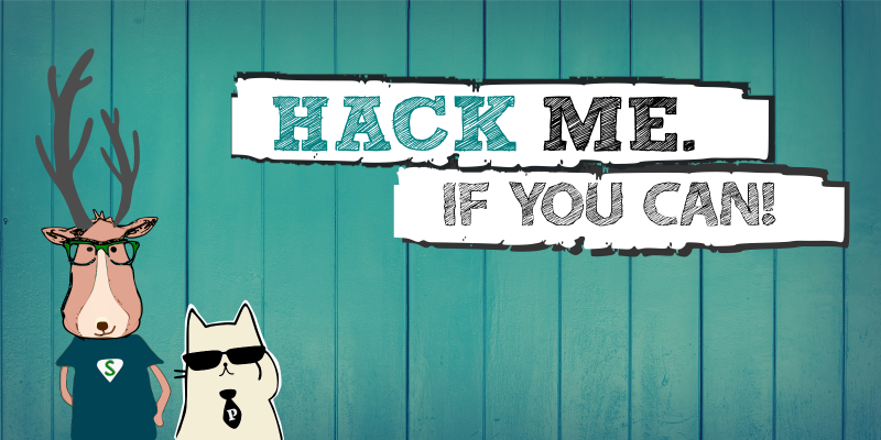 Banner: Hack me. If you can!